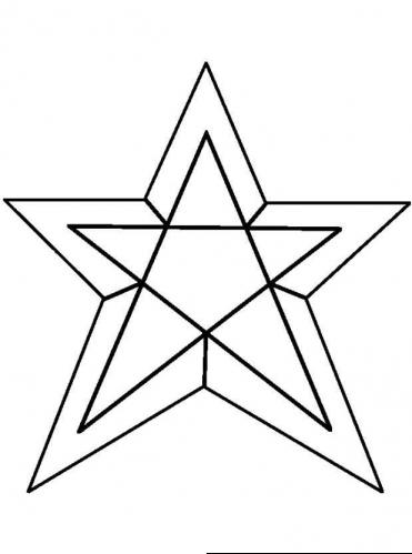 Star Coloring Page 6