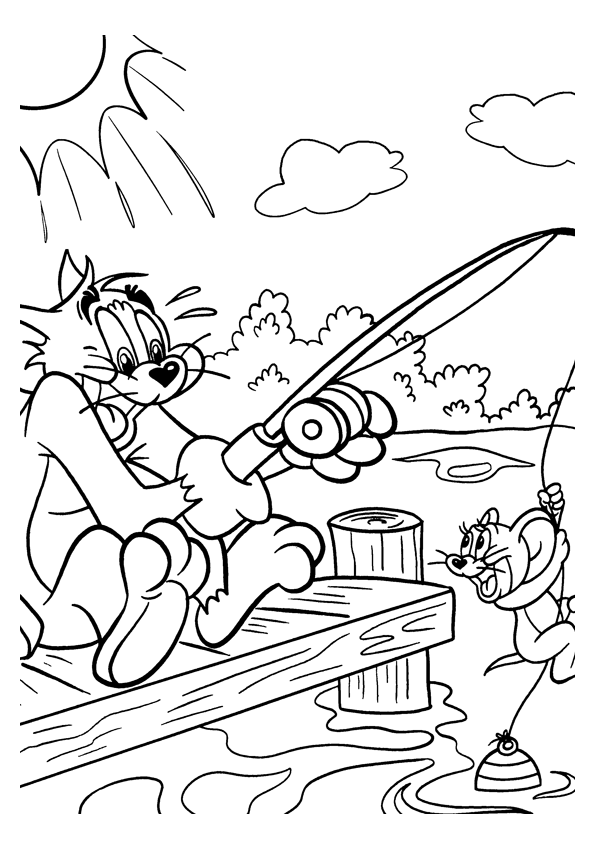 Tom and Jerry The Movie Coloring Page 1
