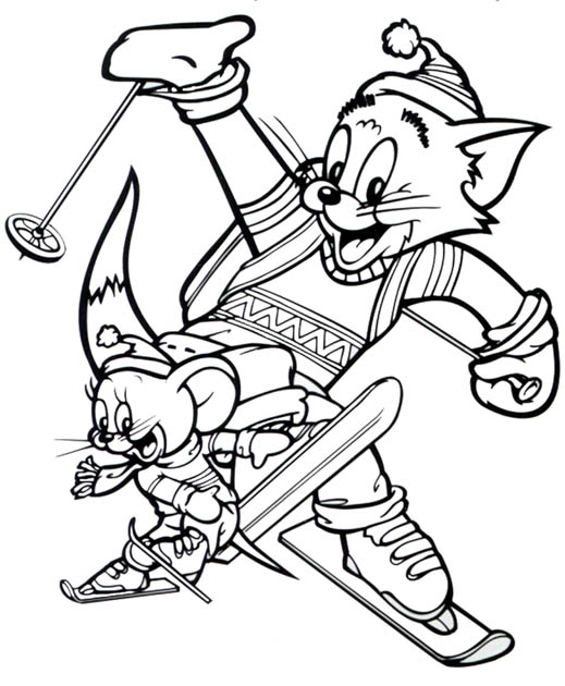 Tom and Jerry The Movie Coloring Page 4